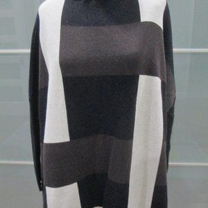 *SOLD* Color Block 3/4 Sleeve Mock Neck Tunic